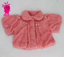 2015 Children Fur Coats Winter Bowknot Princess Baby Girl Fashion Jackets Kids Thermal Outerwear Warm Tops