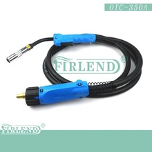OTC 350A welding torch /gun mig welding torch cable 3/4/5/6 m