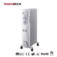 7/9/11/13 Fins 1500/2000/2500 Watt White China Space Electric Oil Filled Oil Heater for Homes