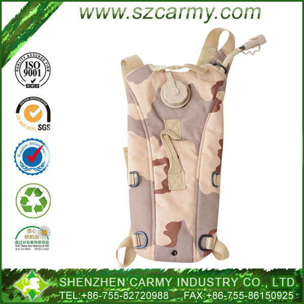 US army 2.5L hydration desert camo military camel water bag