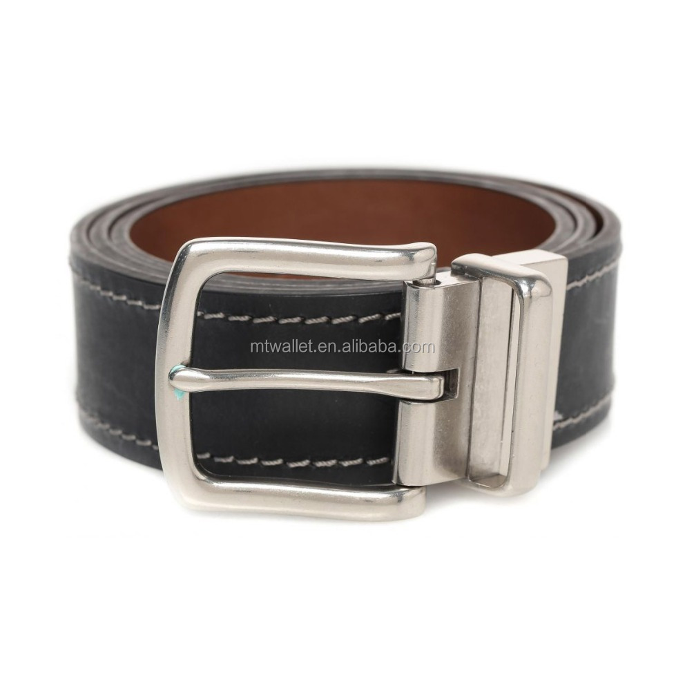 Reversible italian leather belt mens twist buckle, brown side is burnished antiqued, black side is smooth matte 2016