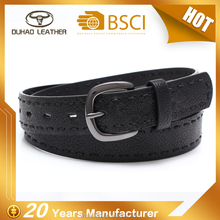 Cheapest price metal belt buckle genuine pu leather belt for woman fashion decoration
