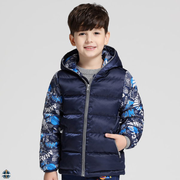 T-BC011 Kid Boys Zip Up Garments Winter Collection Waterproof Down Jacket