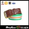 Excellent quality new arrival plain cotton canvas stripe belt