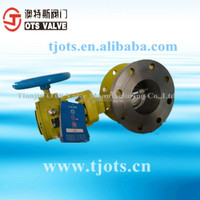 Two way double flanged worm gear butterfly valve with metal seal from china supplier