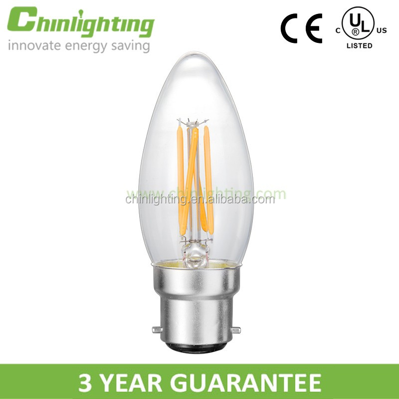 Decoration filament candle bulb c35 e14 base c35 led filament candle light string c35 glass cover b22 led candle light