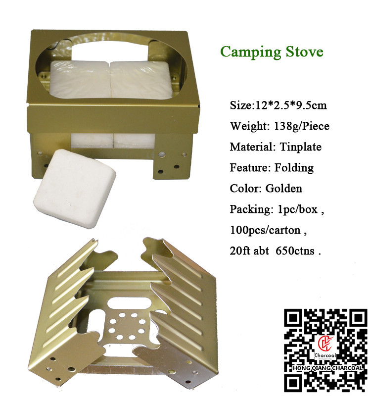 HongQiang high quality Outdoor Army Solid fuel Mini Folding Camping solid fuel stove