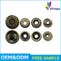 Hot sale manufacture supply custom eco-friendly decorative fancy press gun metal snap button for pants