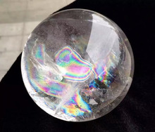 huge natural rock polished rainbow clear quartz balls white crystal sphere