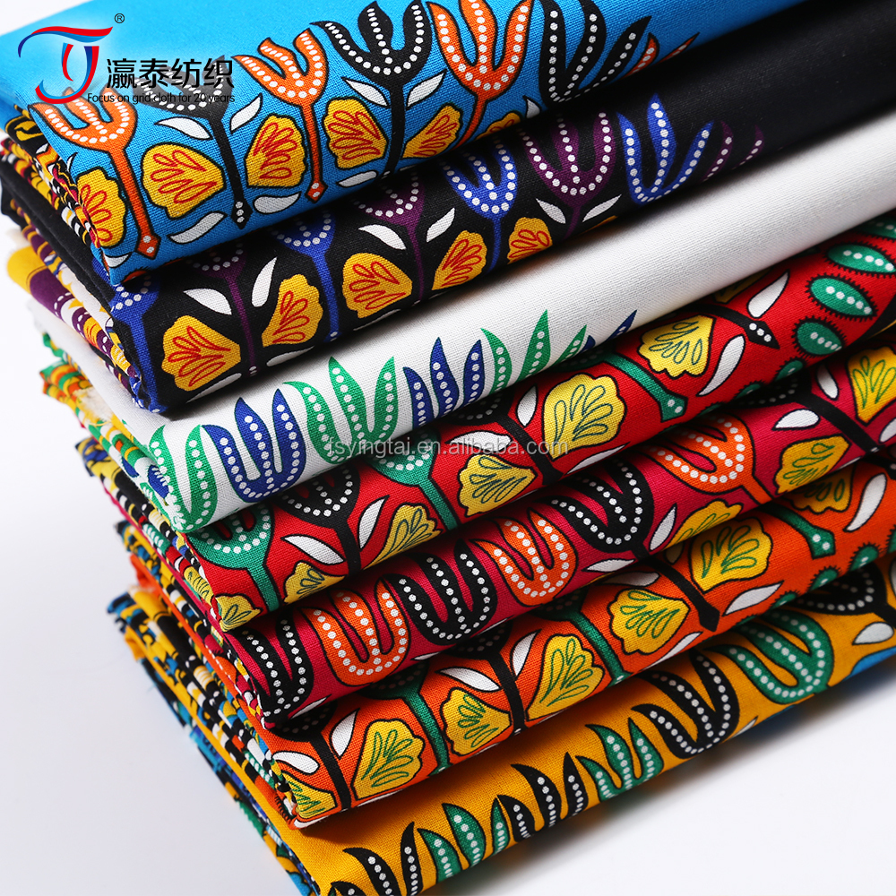 wholesale 100% cotton 40S*40 110*76 cotton poplin printing fabric for african nation for woman dress fabric