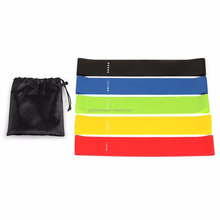 multiple color customized 5 latex fitness exercise loop resistance bands pilates latex elastic work out band