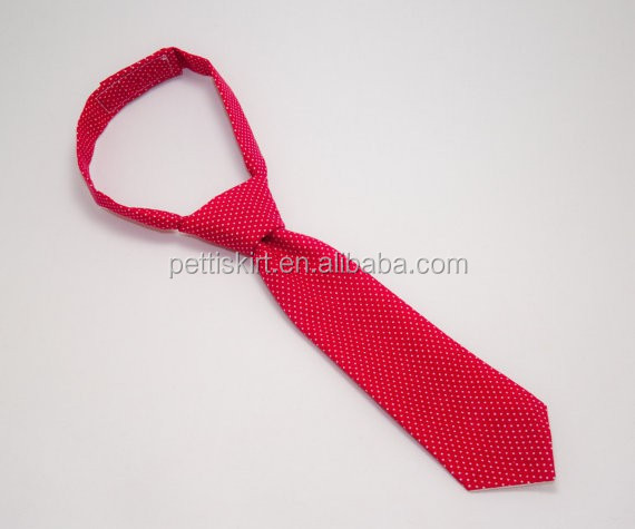 2015 Fashion boy red tie new design children school boy tie wholesale