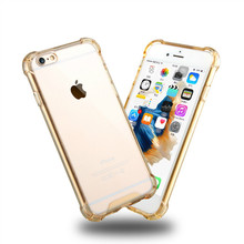 For Apple iPhone 5 6 6S TPU Back Shockproof Bumper Clear Transparent Hard Case,in stock