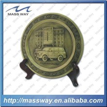 promotion antique brass metal commemorative plates