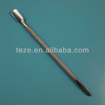 Double use professional nail cuticle pusher