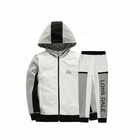 Spring latest Boy kid clothing set children white sweater sets