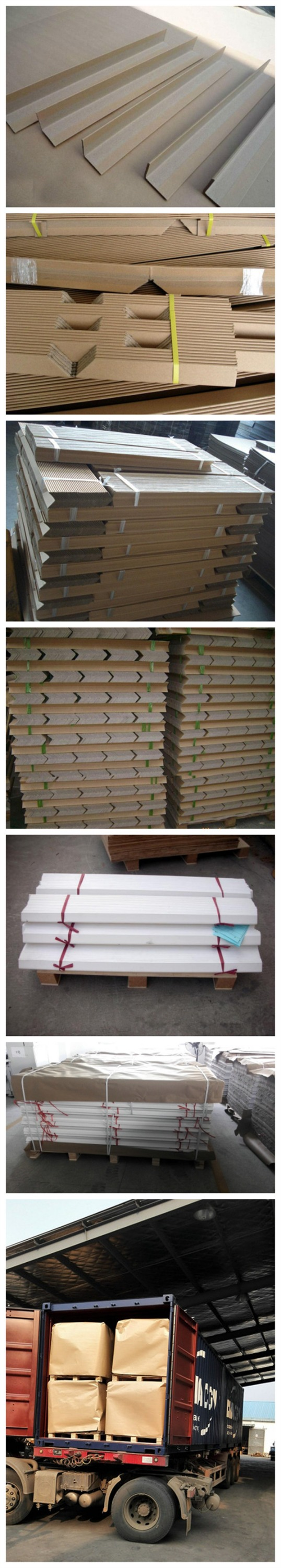 Plywood Corner Protector ~ Honeycomb material packaging corner for plywood pallets