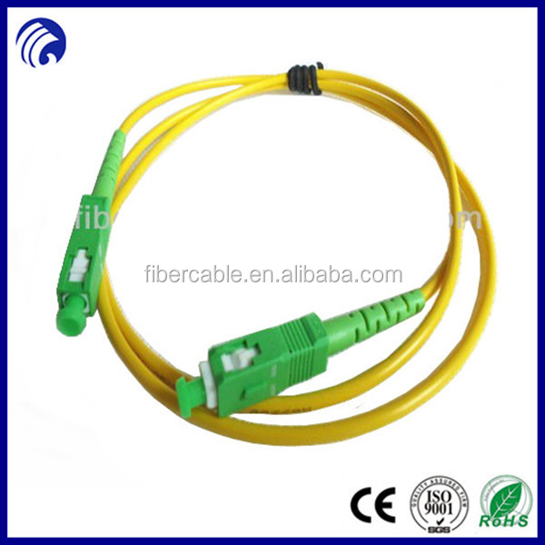 9/125 SX single mode SX SC Fiber Optic Jumper with APC type