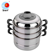 SHINY D04 28cm Stainless steel three layers steamer