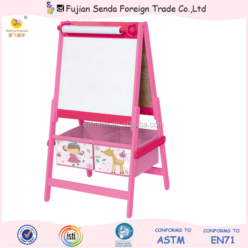 Wooden Kid Standing Easel Colourful Easel blackboard whiteboard easel