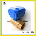 CWX15N 2way Brass Mini Motorized Valves Electric Water Valve Flow Control Valve with Actuator