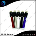CBD/Wax/THC Battery 380mAh 9.2mm Slim vape style Easy Smoking Way