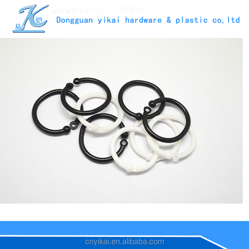 round plastic ring link,binder split rings plastic
