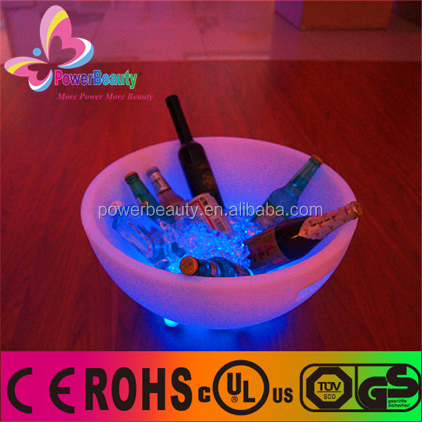 bar Clear Acrylic led light ice bucket plastic ice pail for bar gift,ice bucket stand lighted