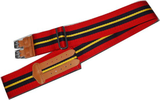military stable belt, woven Stable Belt, STABLE BELTS OF REGIMENTS / CORPS OF THE BRITISH ARMY