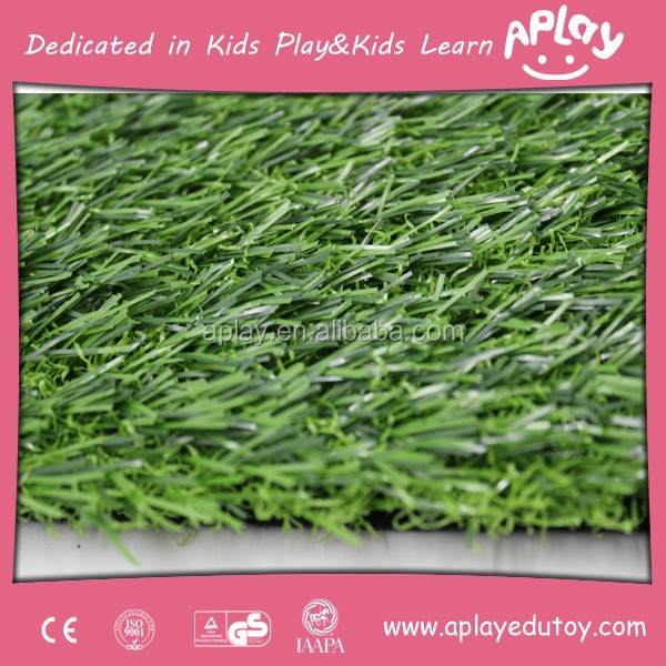 Machine kids & pet friendly decorative fake artificial grass and plastic carpet for children playground and school AP-AG0073