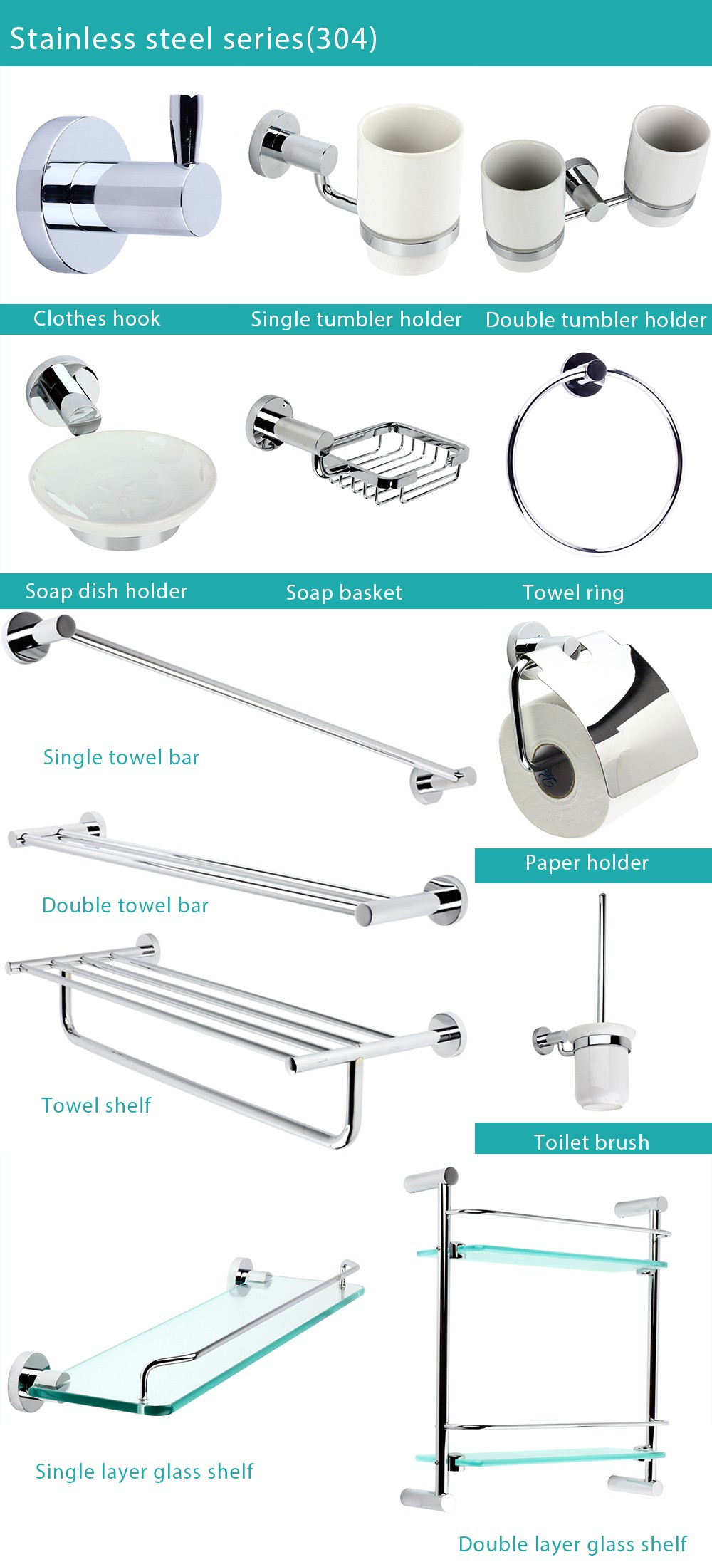 Bathroom Accessories Set Clearance : Factory supplied clearance modern gold bathroom accessory