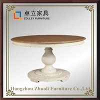 wholesale home furniture round MDF TOP dining table solid wood round tables