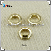 18mm brass garment eyelets,lead free,nickel free,gold plating,