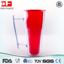 10oz BPA Free double wall AS plastic drinking cup wholesale clear Plastic Water cup with handle