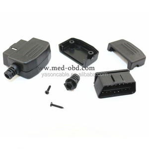 16Pin OBD2 Connector OBDii 16 pin adaptor OBD II Male Plug J1962 Connector