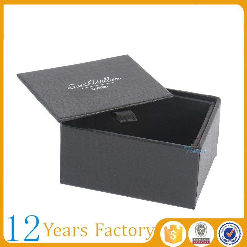 Black small packaging boxes custom logo
