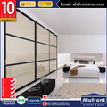 ALUFRONT high quality AS2047 European system glass sliding wardrobe door
