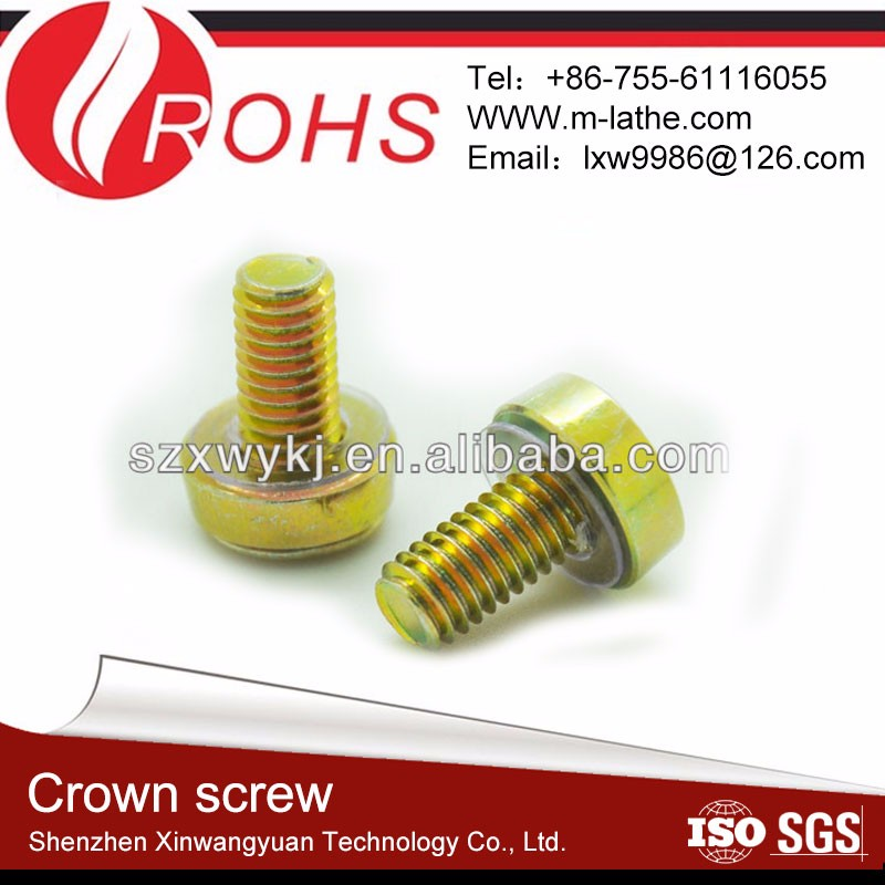 brass fasteners round screw