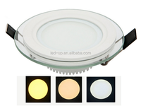 18W Glass LED Panel Light 3 Colors (One Light with 3 different colors)