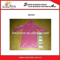 Plastic Disposable Rain Coat With Hoods