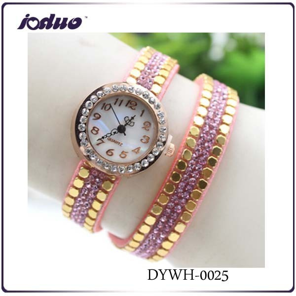 2015 South Korea fashion personality ladies watch manufacturers With Artificial small gold coin