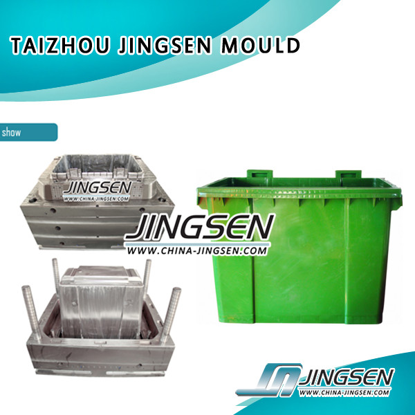 high precision plastic injection dustbin mould, Plastic Trash Can Mold