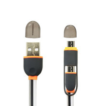 Mini flat for samsung appale iphone ipad 2 in 1 all in one usb data cable