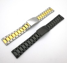 Changeable Metal Classic Stainless Steel 22mm Bracelet Watch Band Strap Straight End Solid Links Watchbands