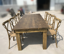 Wholesale price factory direct solid wood dinning harvest farm <strong>table</strong>