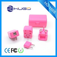 Mains adaptor travel plug with dual usb charger logo adapter with socket