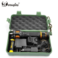 T6 LED Rechargeable Attack Head Flashlight With Rope Cutter Alarm Multifunction Torch
