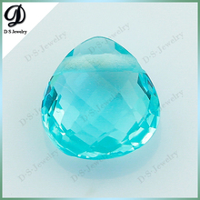 High Quality Low Price Pear/Teardrop Shaped Colour Glass Gemstone