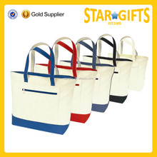 Alibaba china supplier folding promotional tote bag with zipper procket