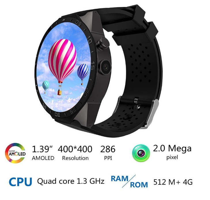 High-end 3G Mobile phone smart watch With WIFI ,GPS,camera ,heart rate monitor